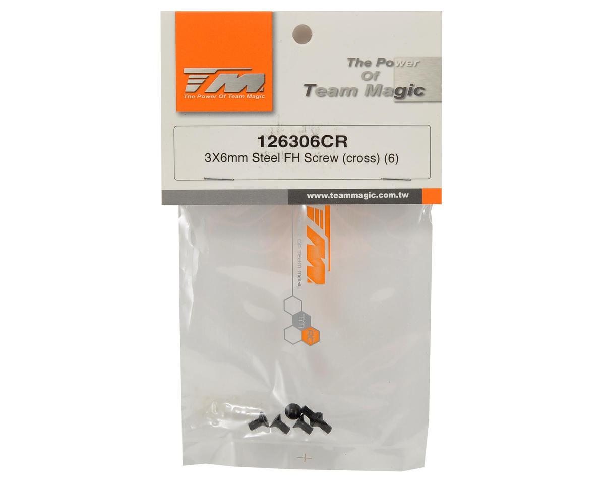 Team Magic 3x6mm Flat Head Screw (6)