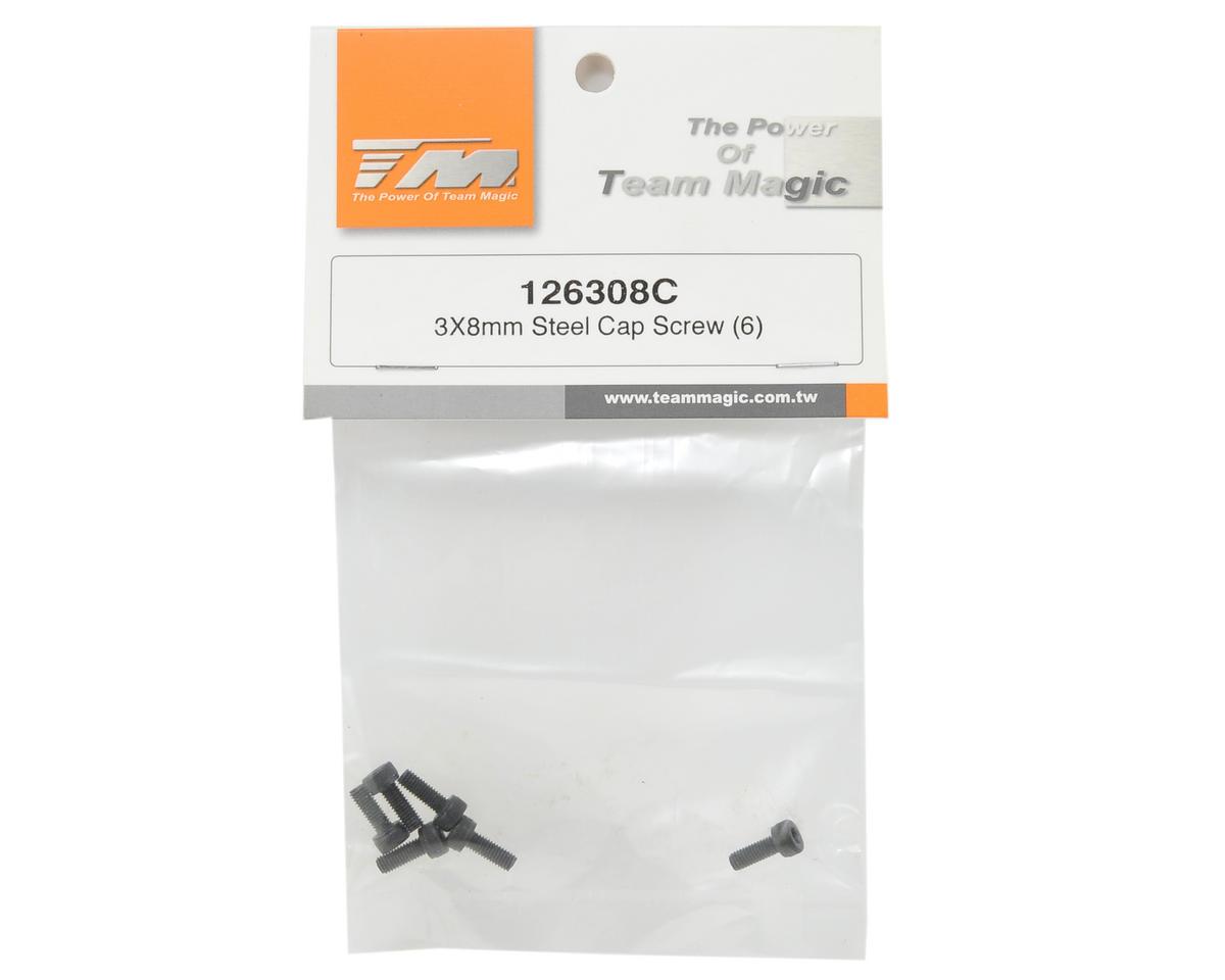 Team Magic 3x8mm Cap Head Screw (6)