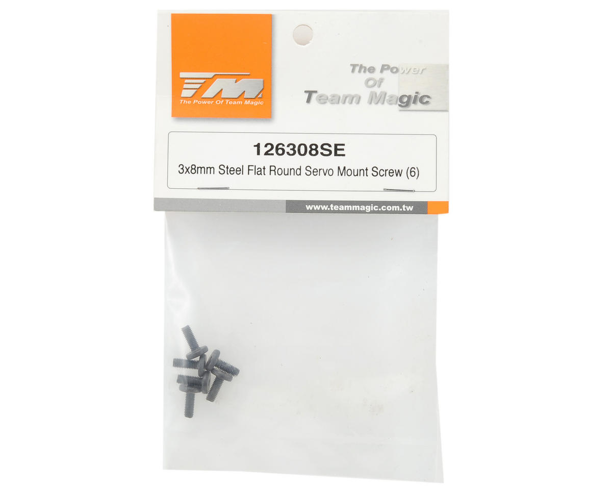 Team Magic 3x8mm Servo Mount Screw (6)