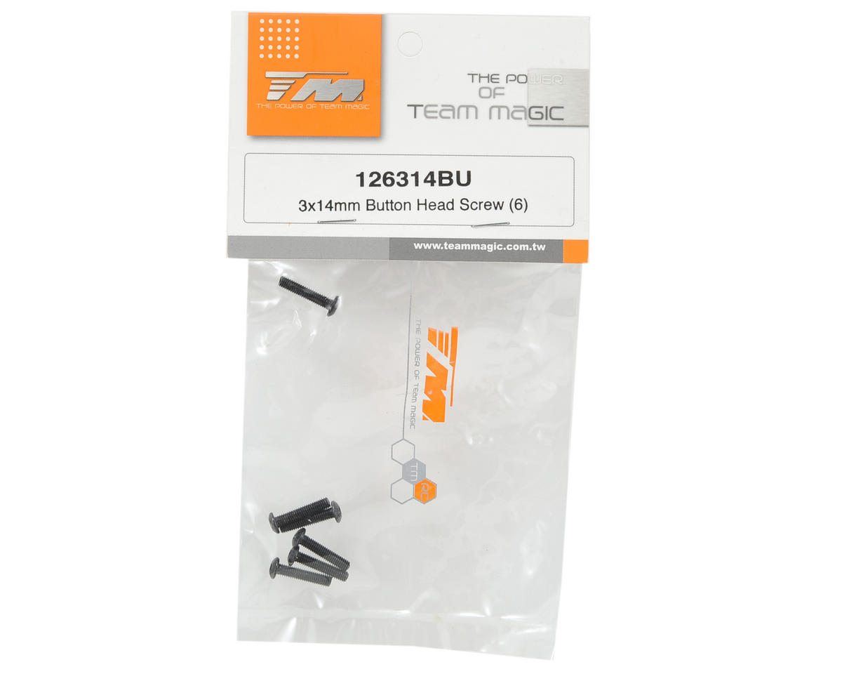 Team Magic 3x14mm Button Head Screw (6)