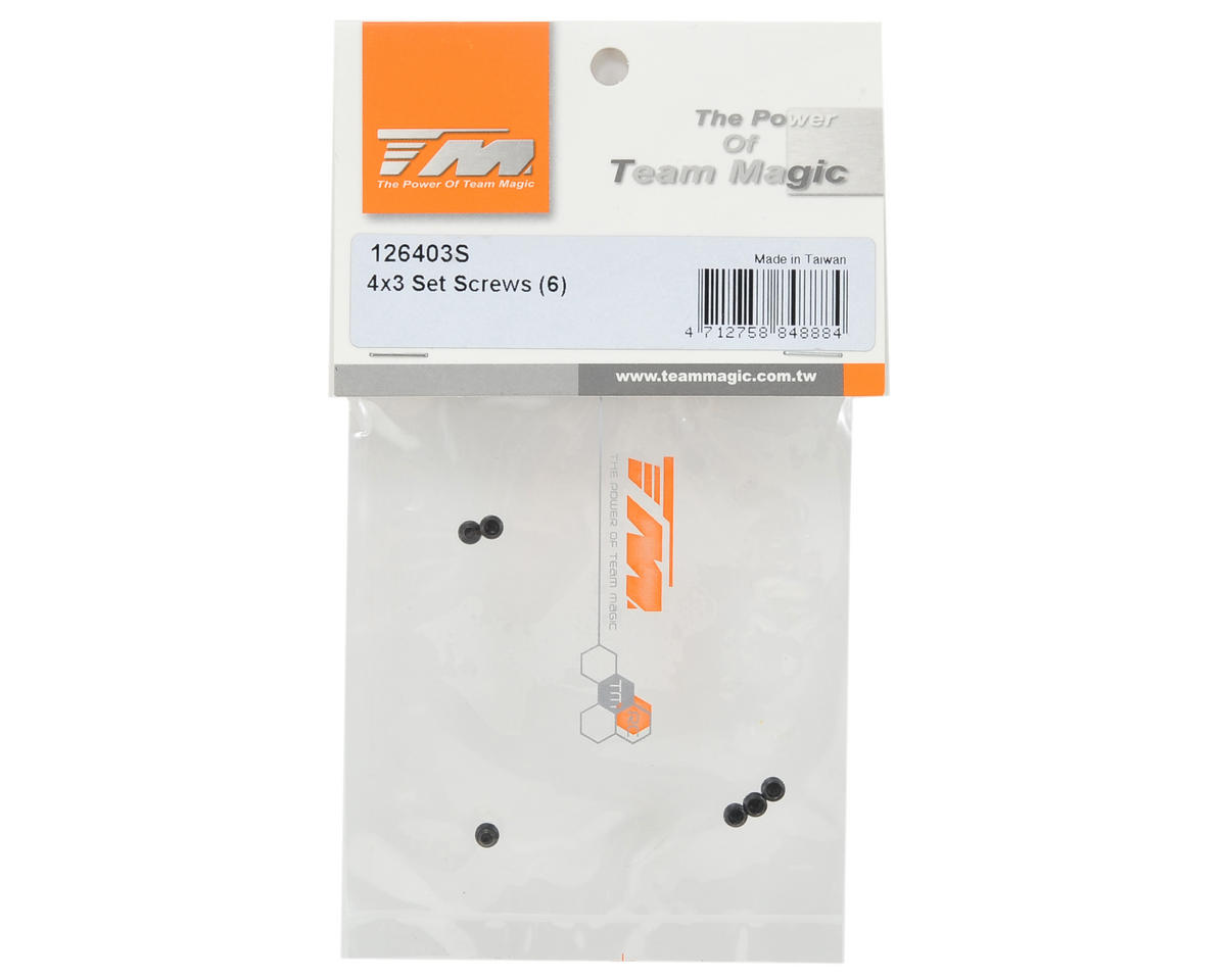 Team Magic 4x3mm Set Screw (6)