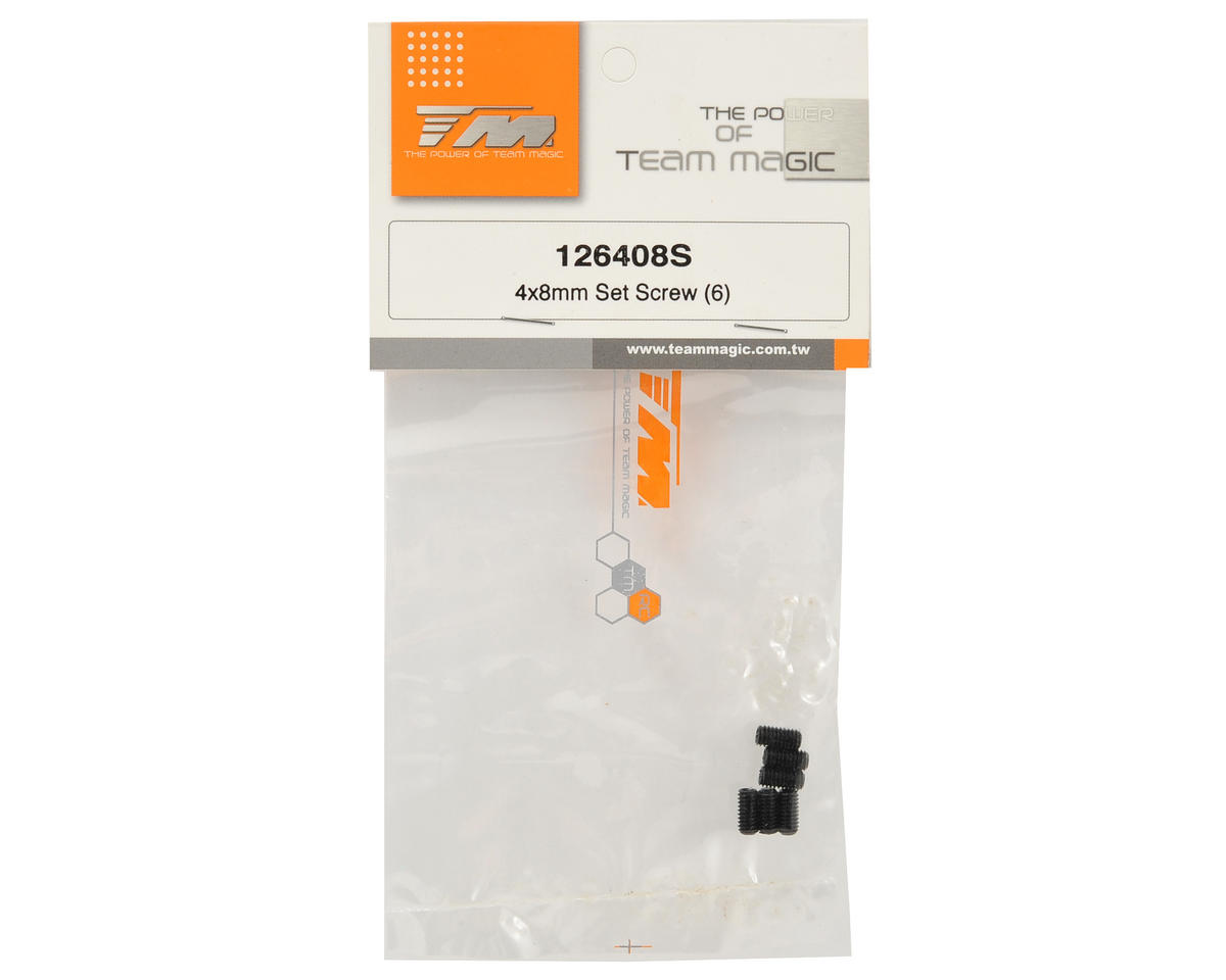 Team Magic 4x8mm Set Screw (6)