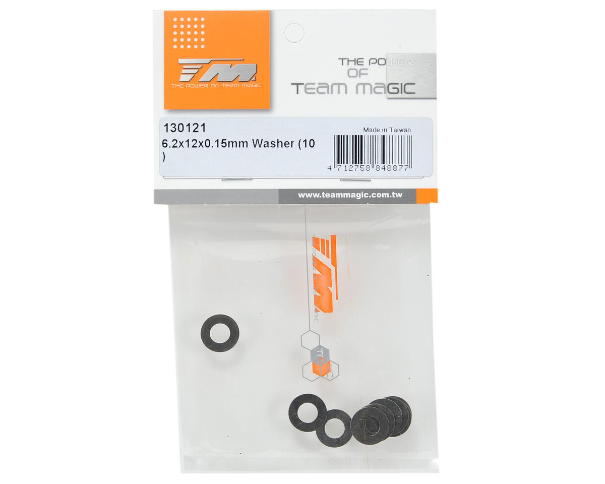 Team Magic 6.2x12x0.15mm Washer (10)
