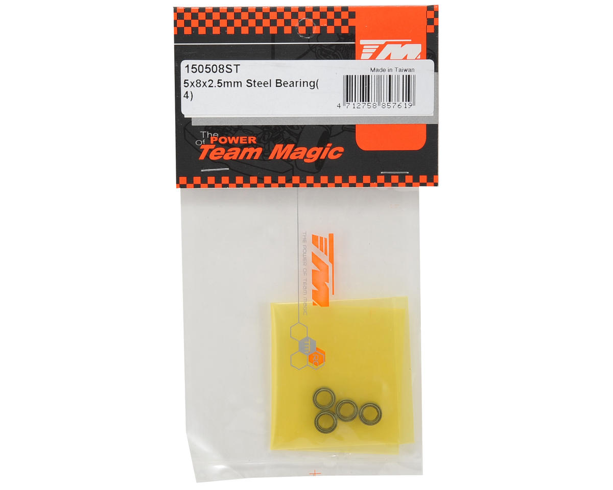 Team Magic 5x8x2.5mm Steel Bearing (4)