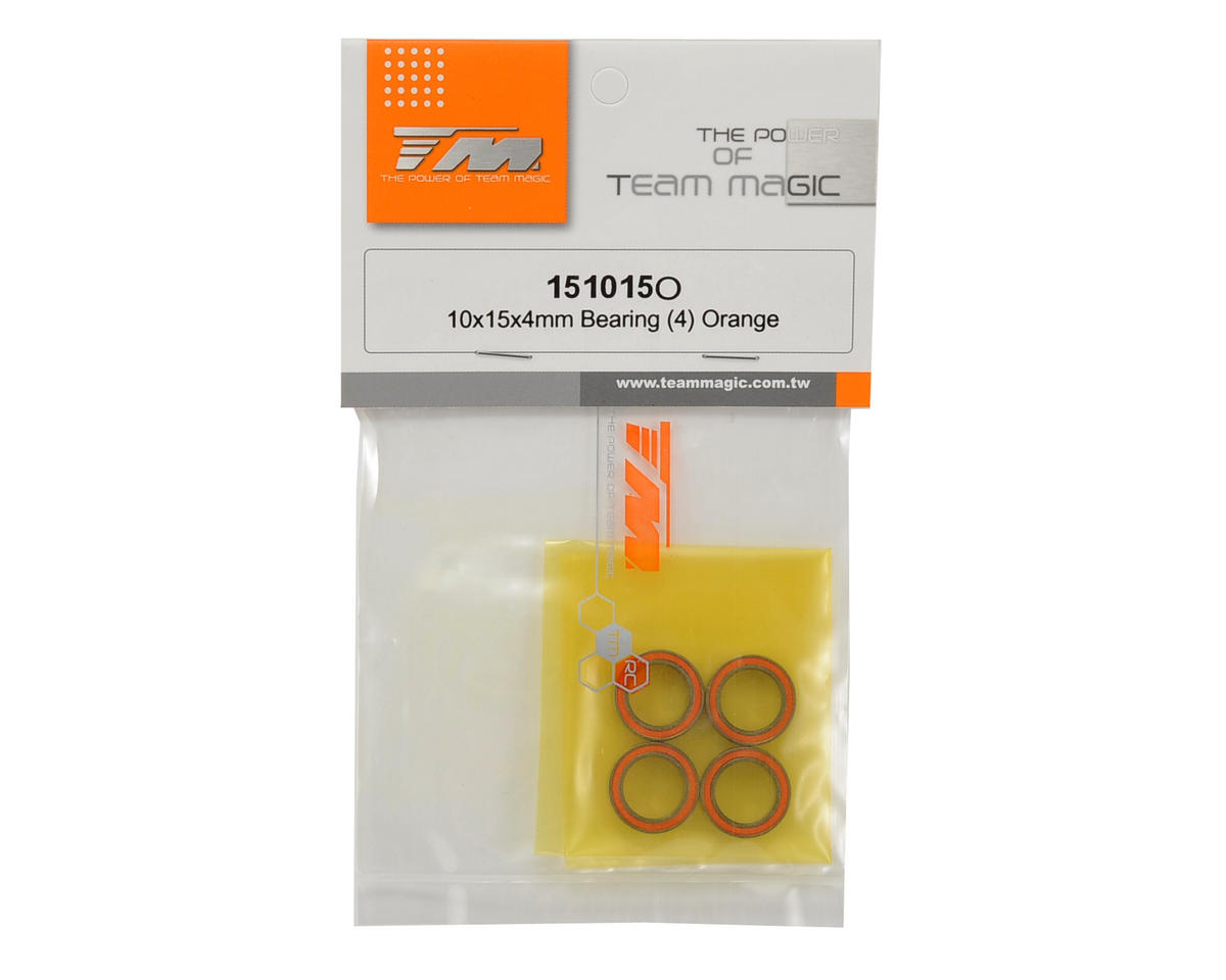 Team Magic 10x15x4mm Bearing (Orange) (4)
