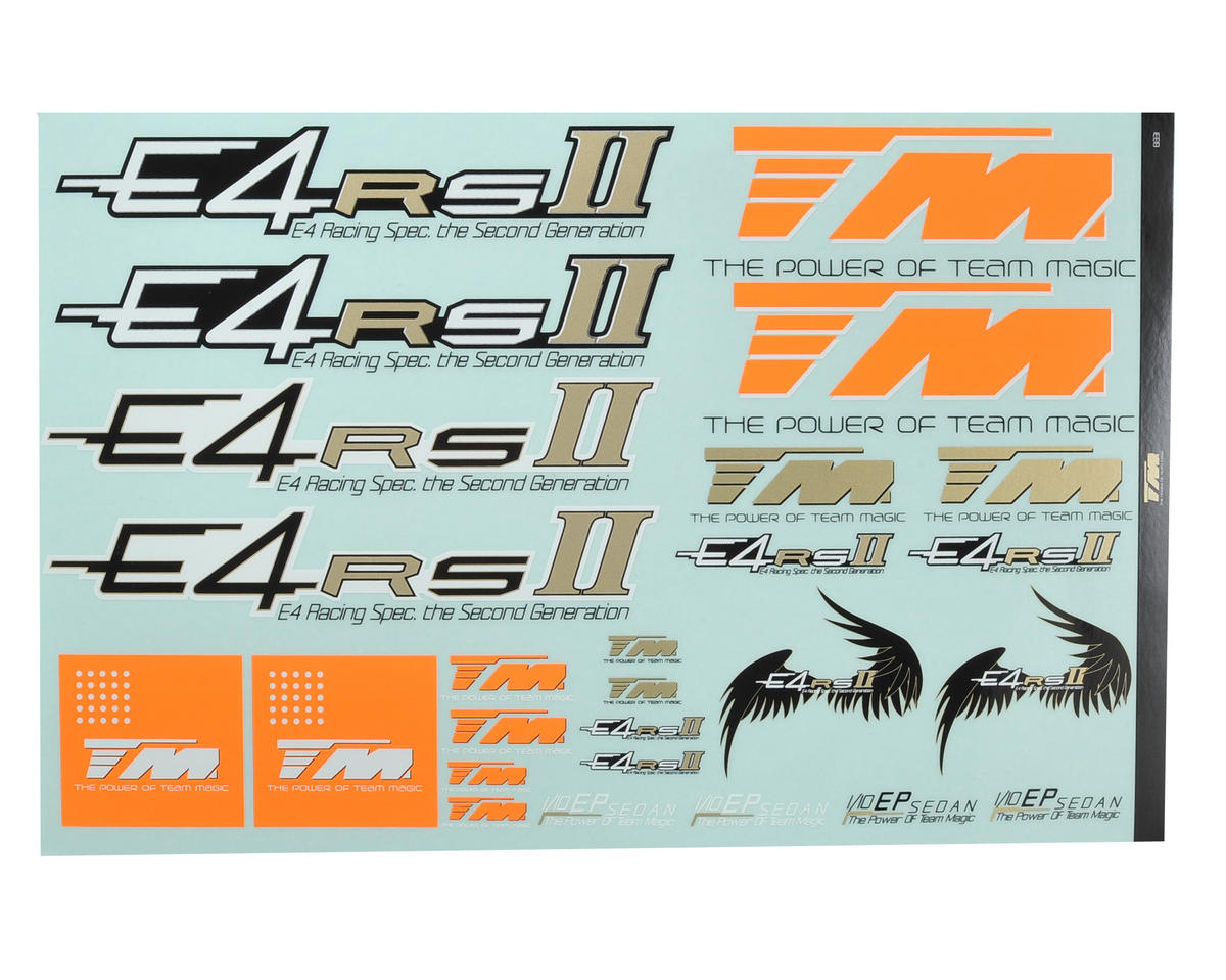 Team Magic E4RSII Decal Sheet