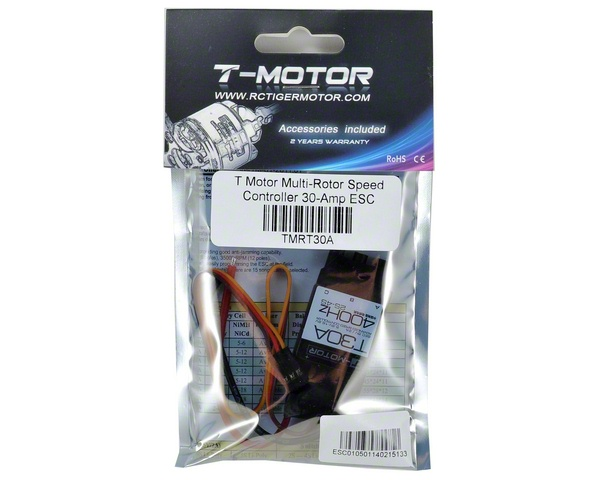 T-Motor T-Series T30A 2-4S Brushless ESC w/400Hz Refresh Rate