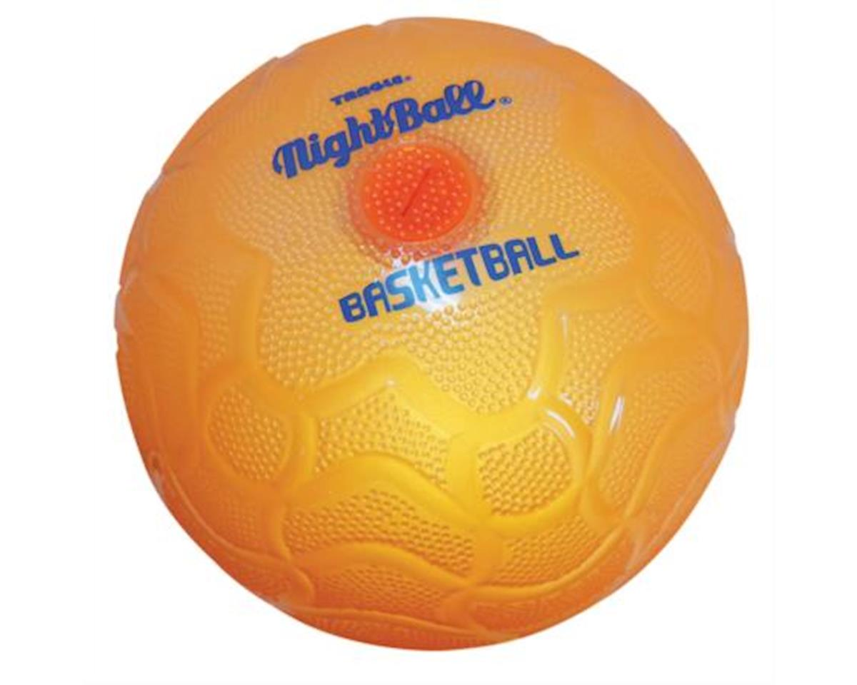 Tangle NightBall Glow in the Dark Light Up LED Basketball, (Green, Blue, or Orange)