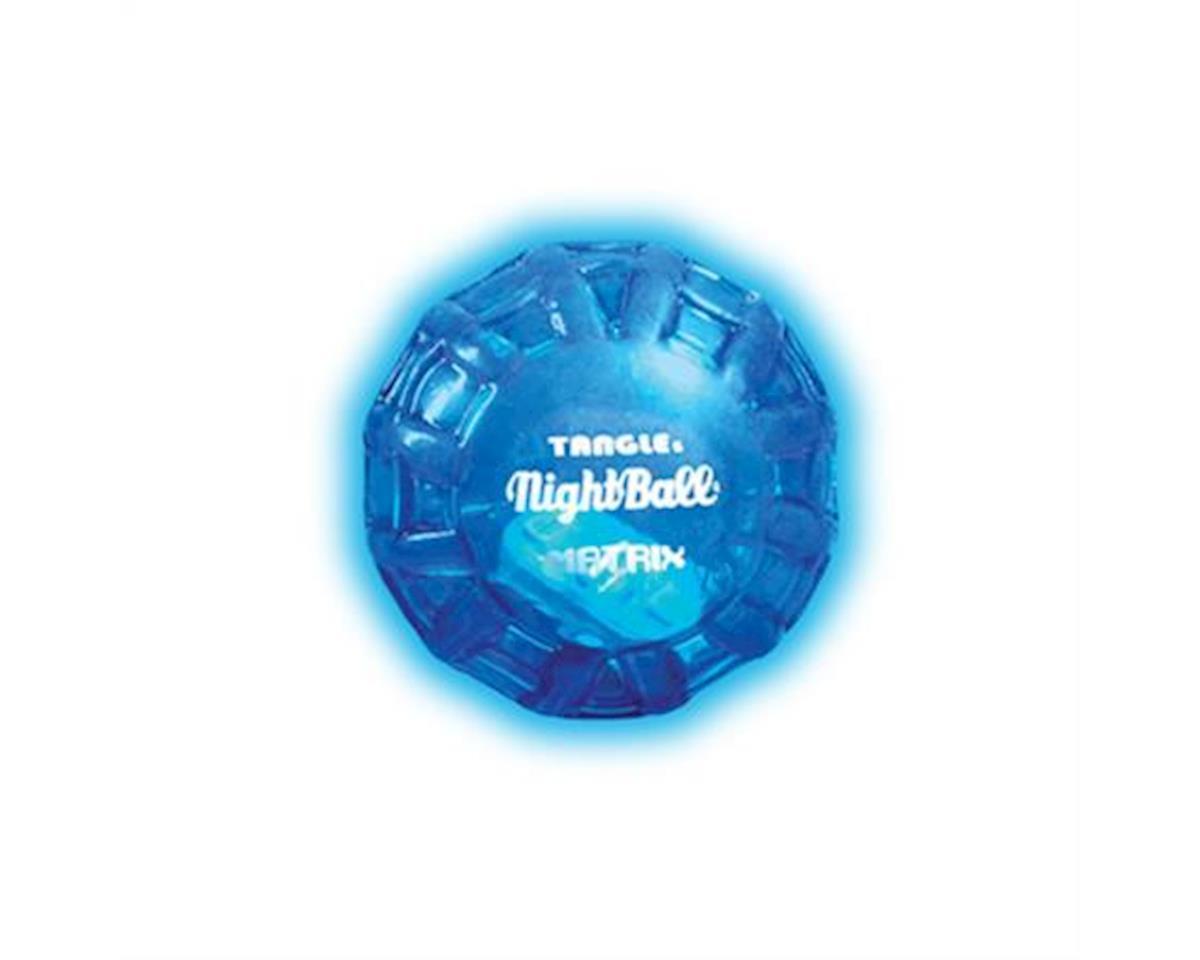 Tangle NightBall Glow in the Dark Light Up LED Mini Ball (Blue, Green, or Yellow)