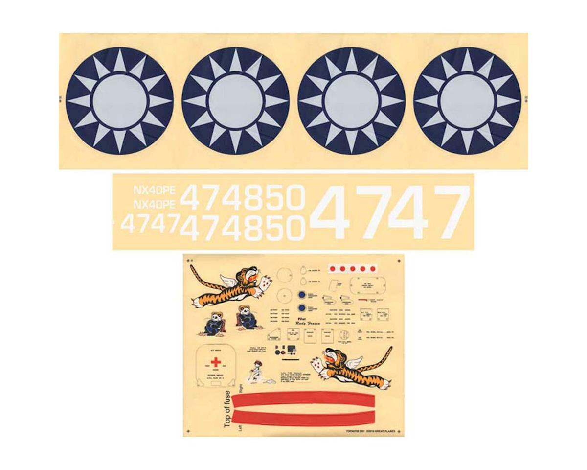 Top Flite Decal Set Giant P-40 ARF [TOPA1805] - HobbyTown