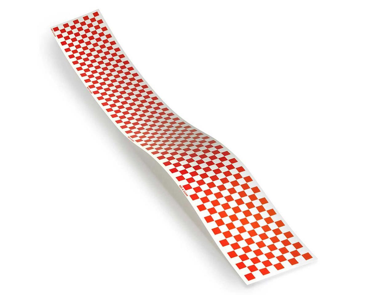 Top Flite Checkered Monokote Trim (Red/Clear)