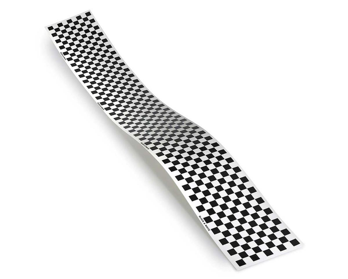 Top Flite Checkered Monokote Trim (Black/White)