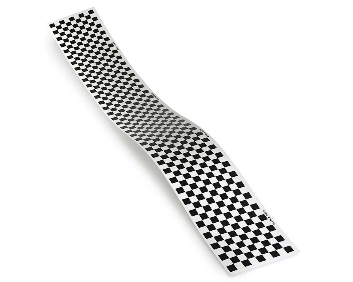 Top Flite Checkered Monokote Trim (Black/Clear)