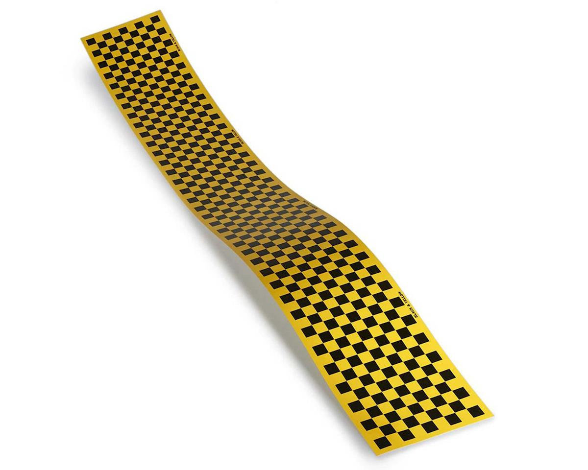 Top Flite Checkered Monokote Trim (Black/Yellow)