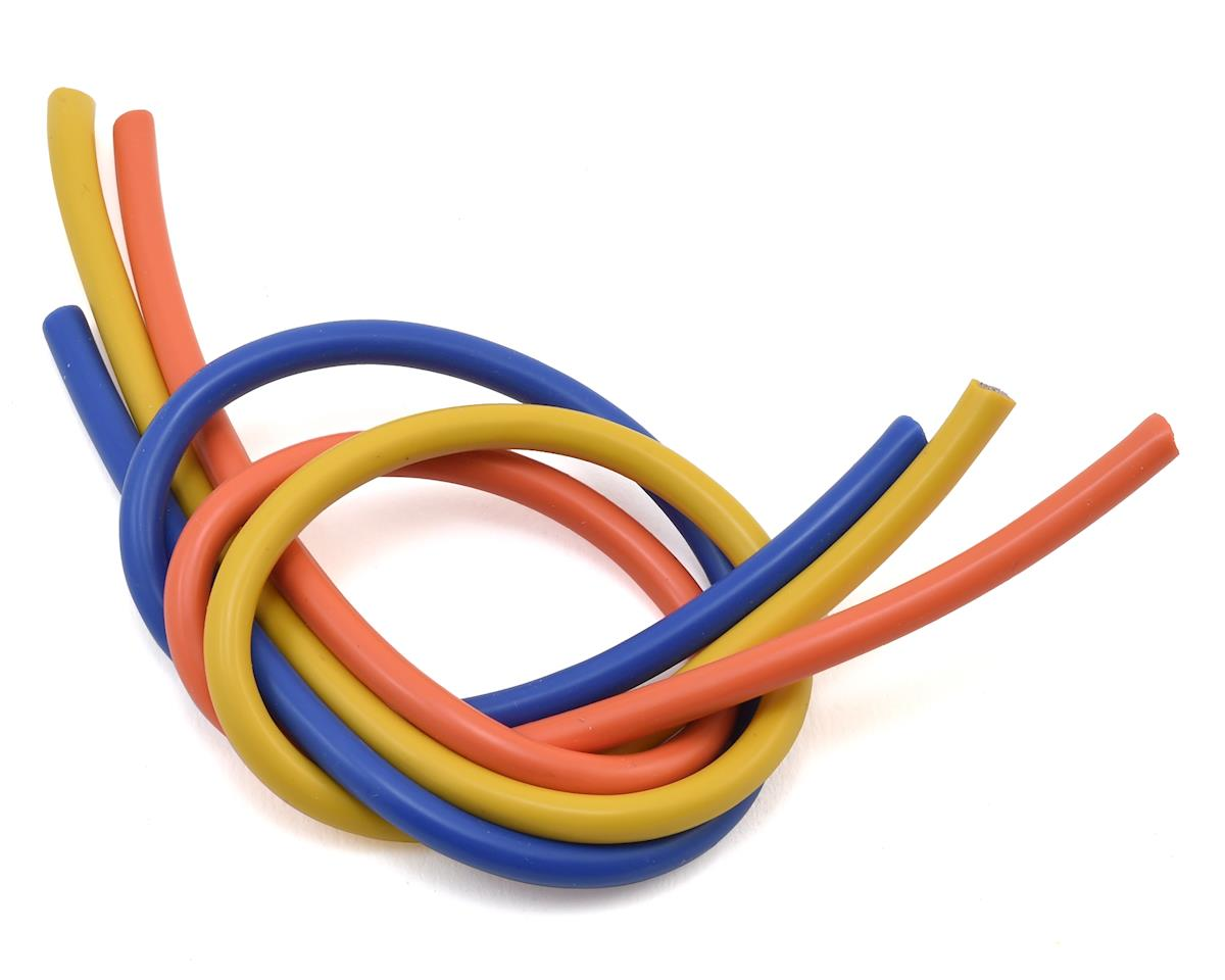 10 Gauge 3-Wire Pack (Blue, Yellow & Orange) (1') by TQ Wire