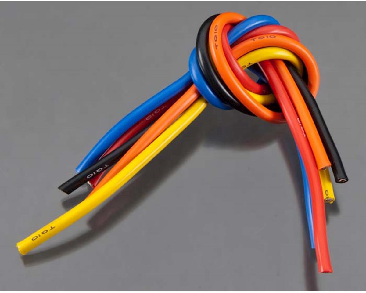 1105 10 Gauge Wire 1' BL 5-Wire Kit Blck/Red/Blu/Ylw/Or