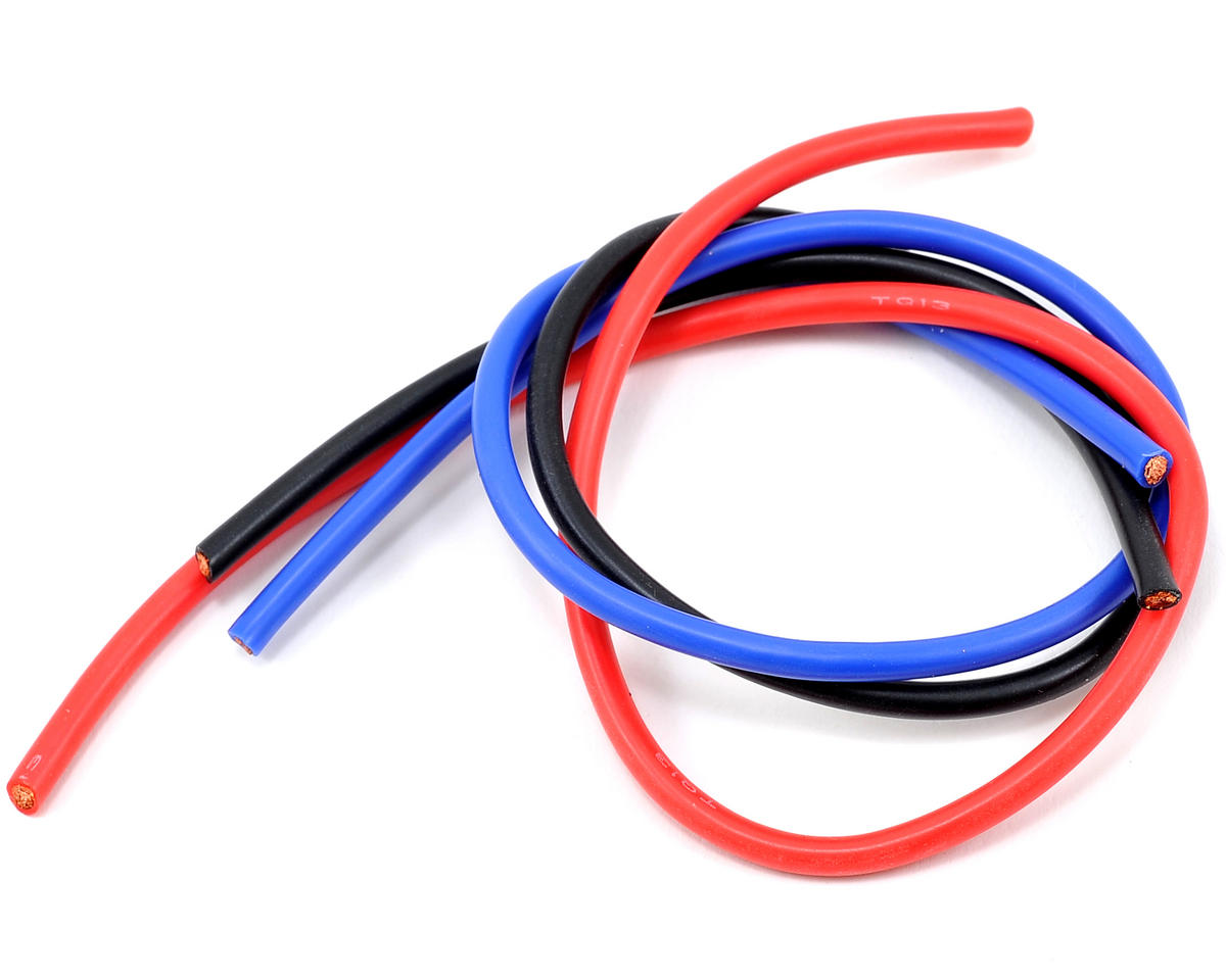 13awg 3 Wire Kit (Black/Red/Blue) (1'ea) by TQ Wire