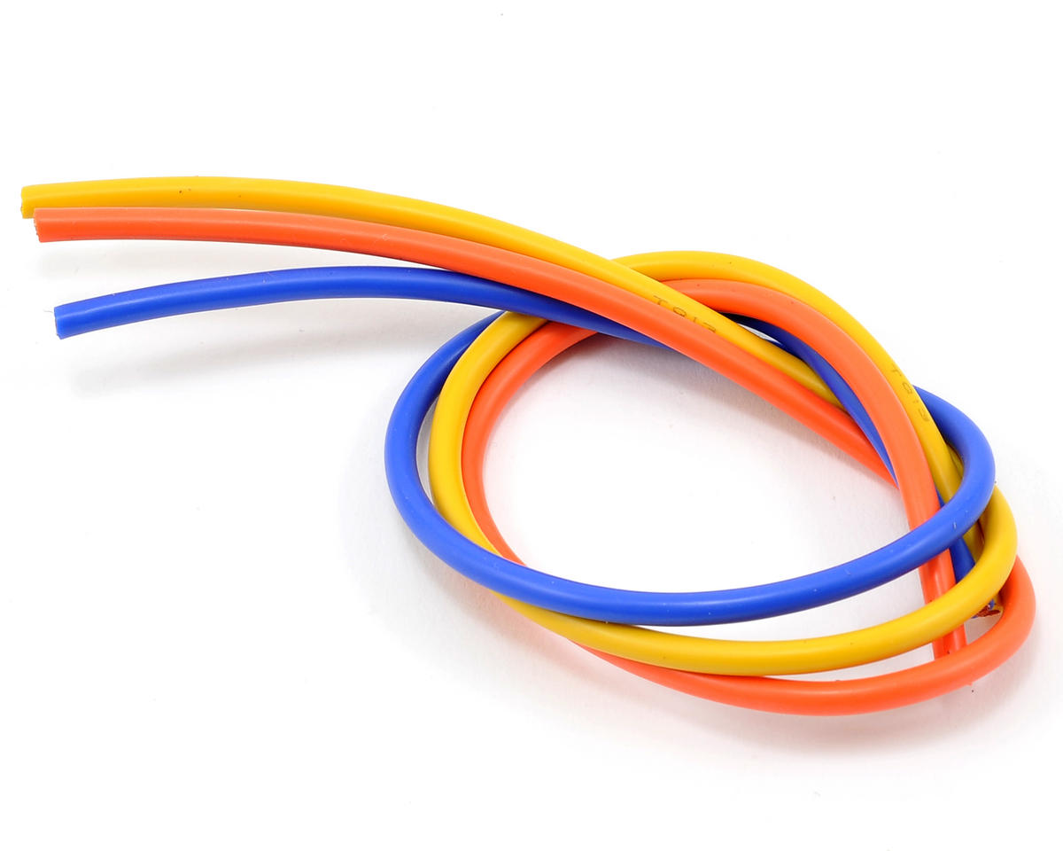 13awg 3 Wire Kit (Blue/Yellow/Orange) (1'ea) by TQ Wire