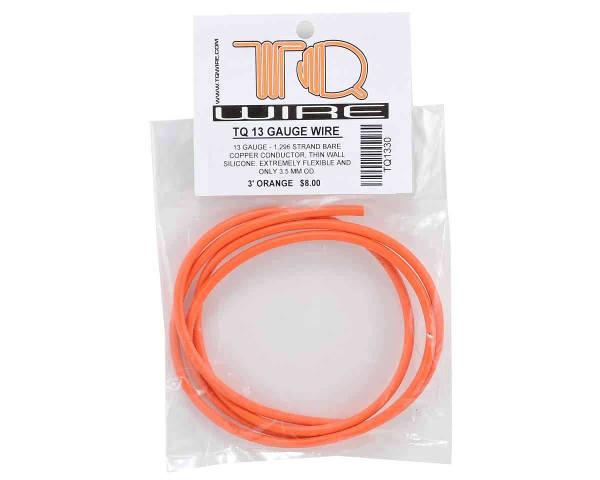 TQ Wire 13awg Silicone Wire (Orange) (3')