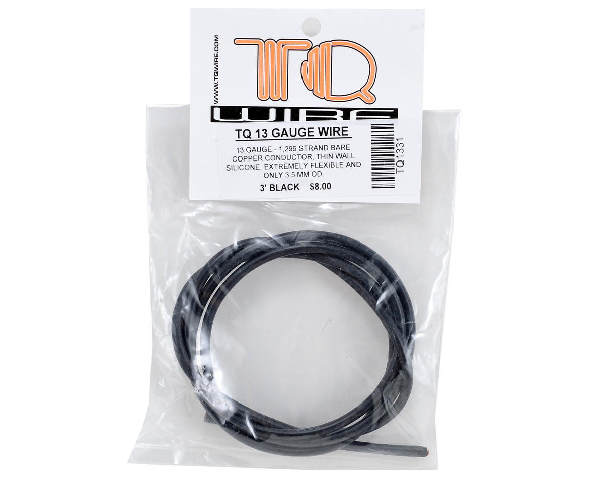 TQ Wire 13awg Silicone Wire (Black) (3\') [TQW1331]   Airplanes ...