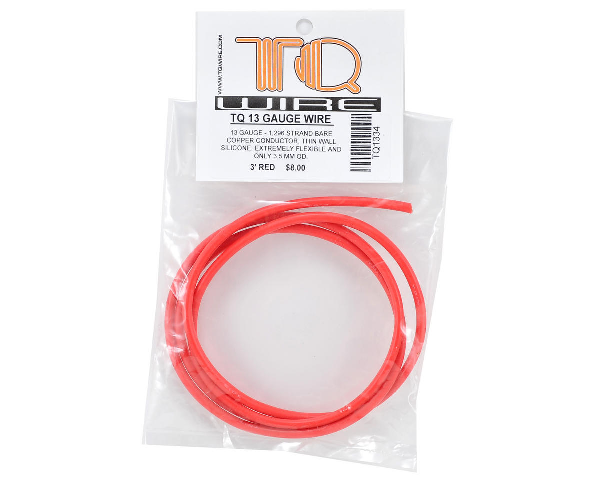 TQ Wire 13awg Silicone Wire (Red) (3')