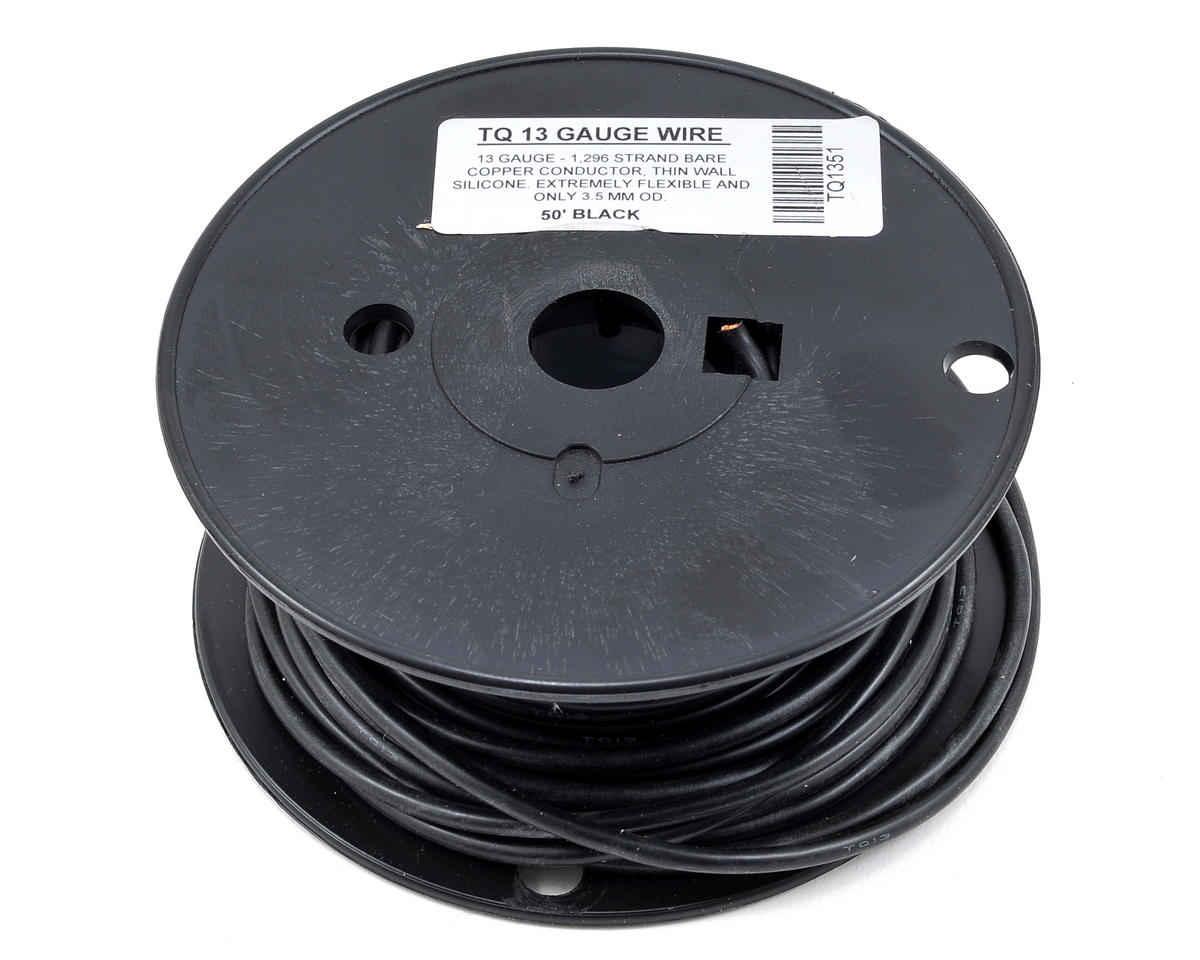 13awg Silicone Wire (Black) (50') by TQ Wire