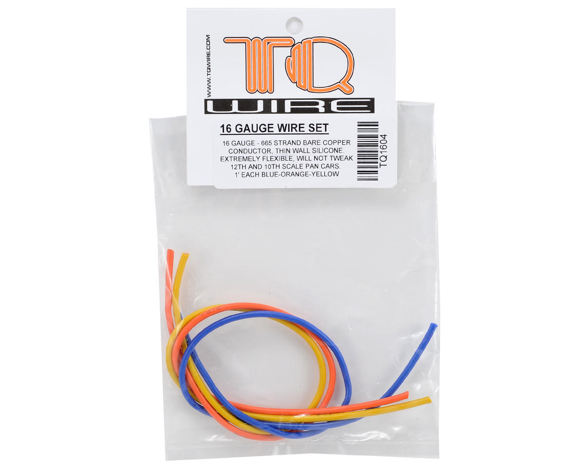 TQ Wire 16awg 3 Wire Kit (Blue/Yellow/Orange) (1'ea)