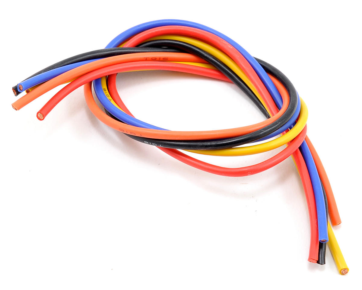 TQ Wire 16awg 5 Wire Kit (Black/Blue/Red/Orange/Yellow) (1'ea)