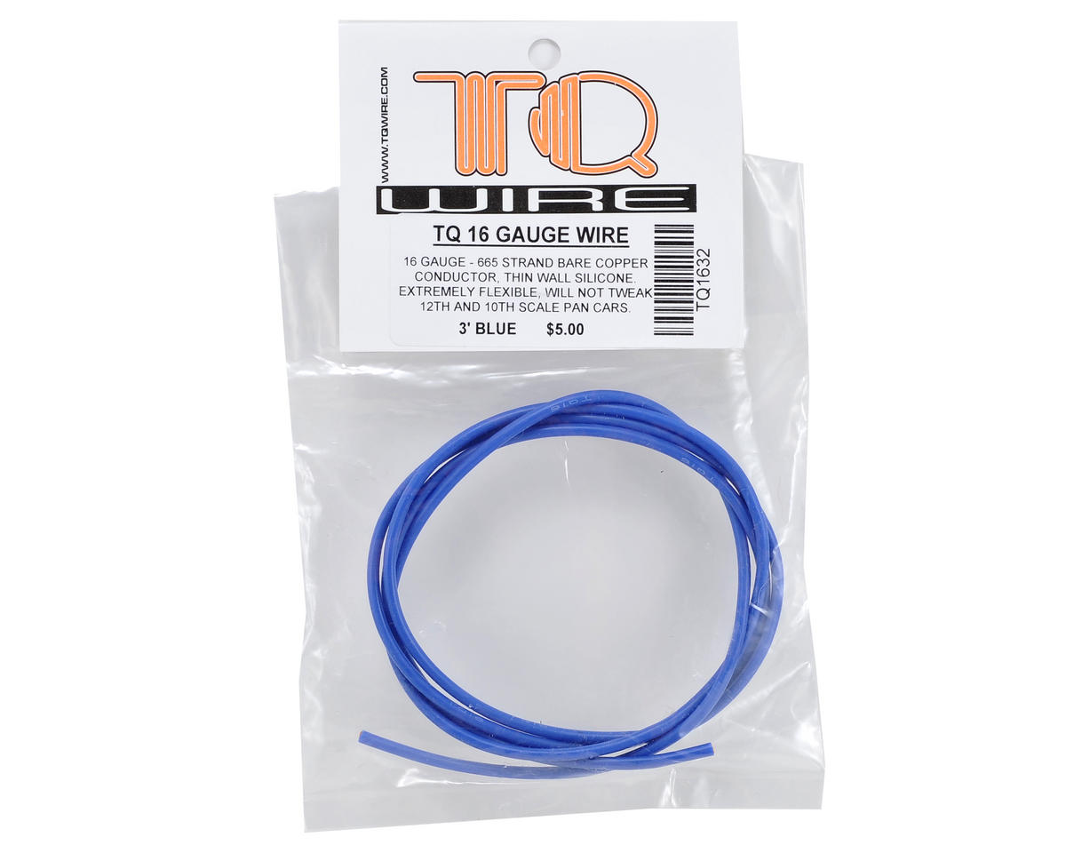 TQ Wire 16awg Silicone Wire (Blue) (3')