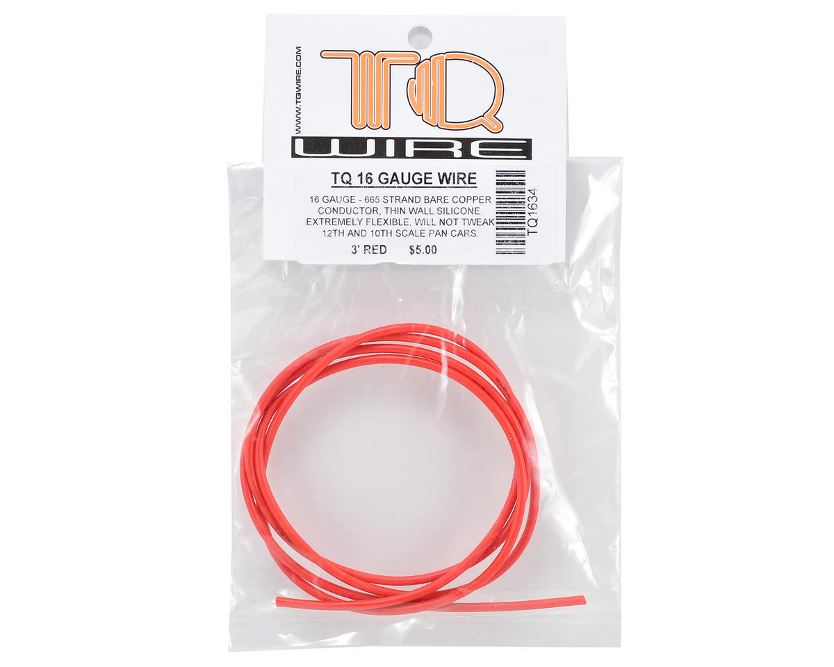 TQ Wire 16awg Silicone Wire (Red) (3')