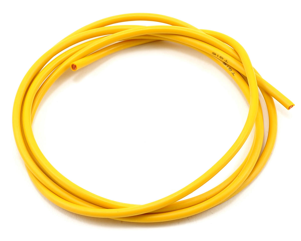 TQ Wire 16awg Silicone Wire (Yellow) (3')