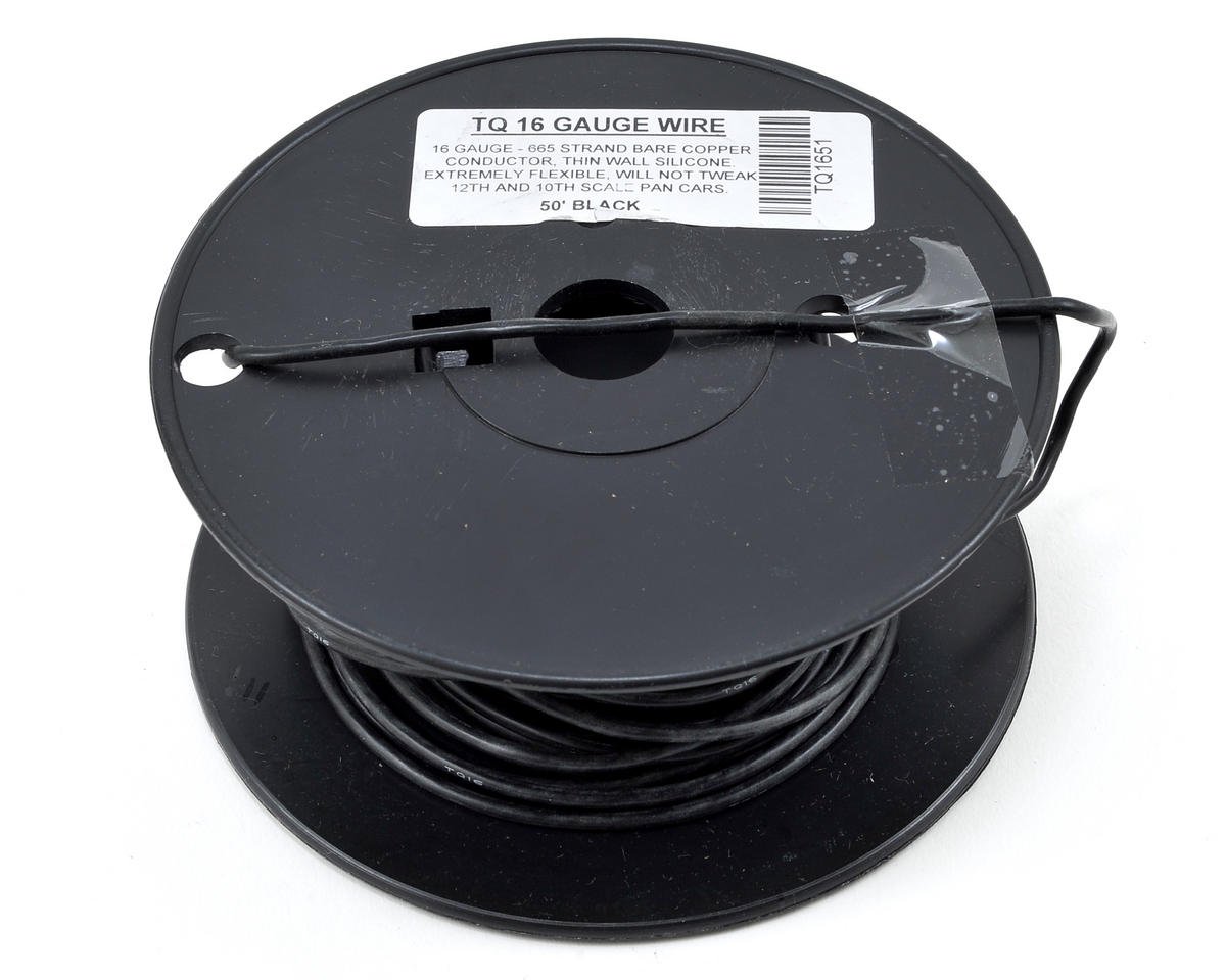 16awg Silicone Wire (Black) (50') by TQ Wire