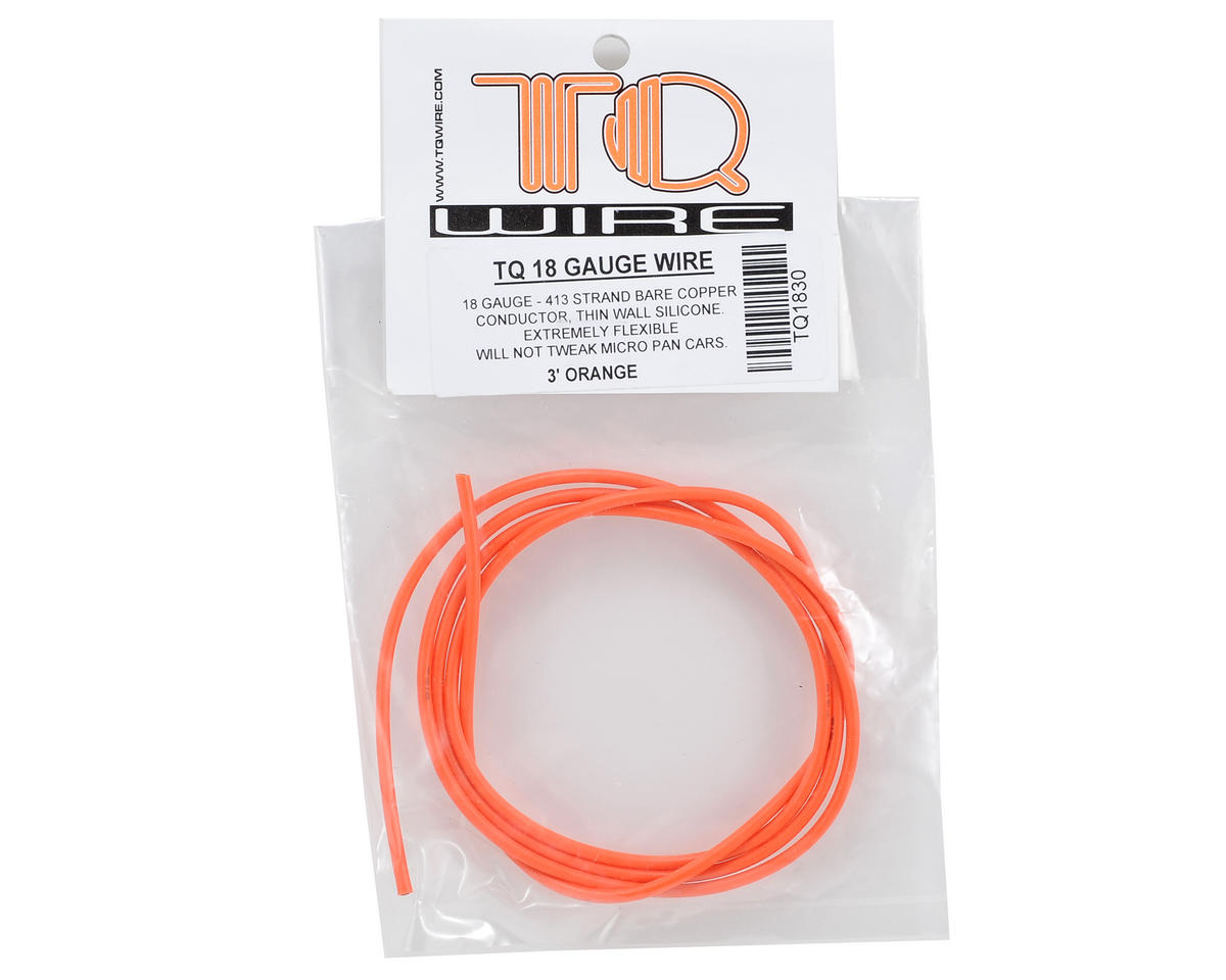 TQ Wire 18awg Silicone Wire (Orange) (3')