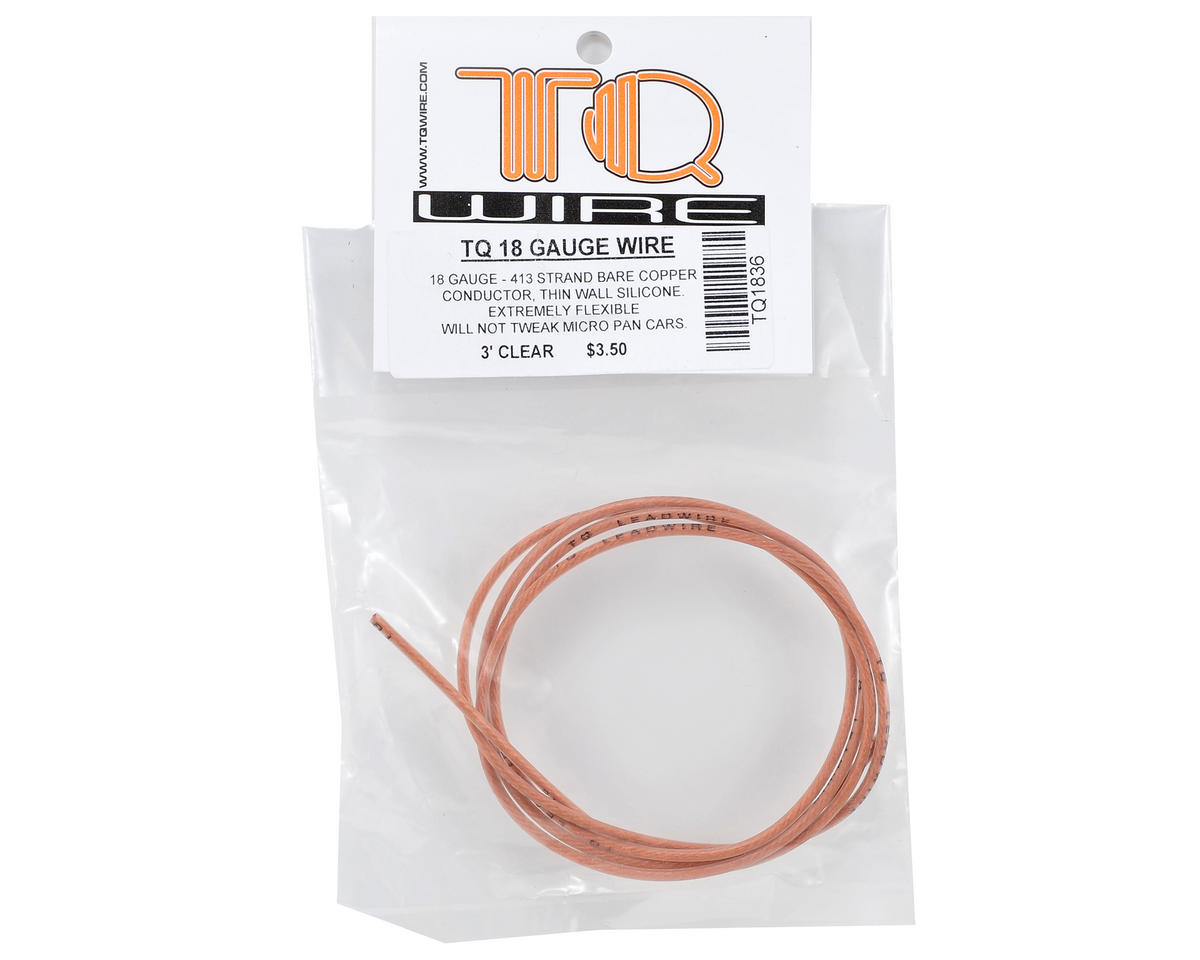 18awg Silicone Wire (Clear) (3') by TQ Wire