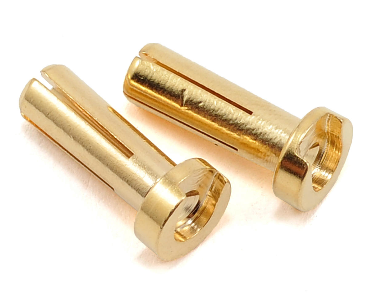 4mm Low Profile Male Bullet Connectors (Gold) (14mm) (2)