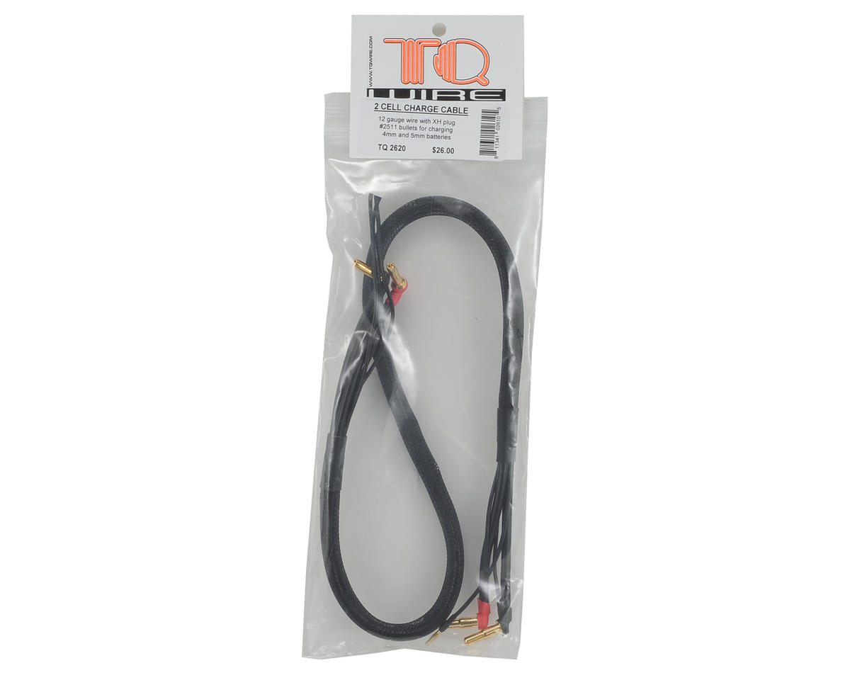 TQ Wire 2S Charge Cable w/4mm & 5mm Bullet Connector (2')