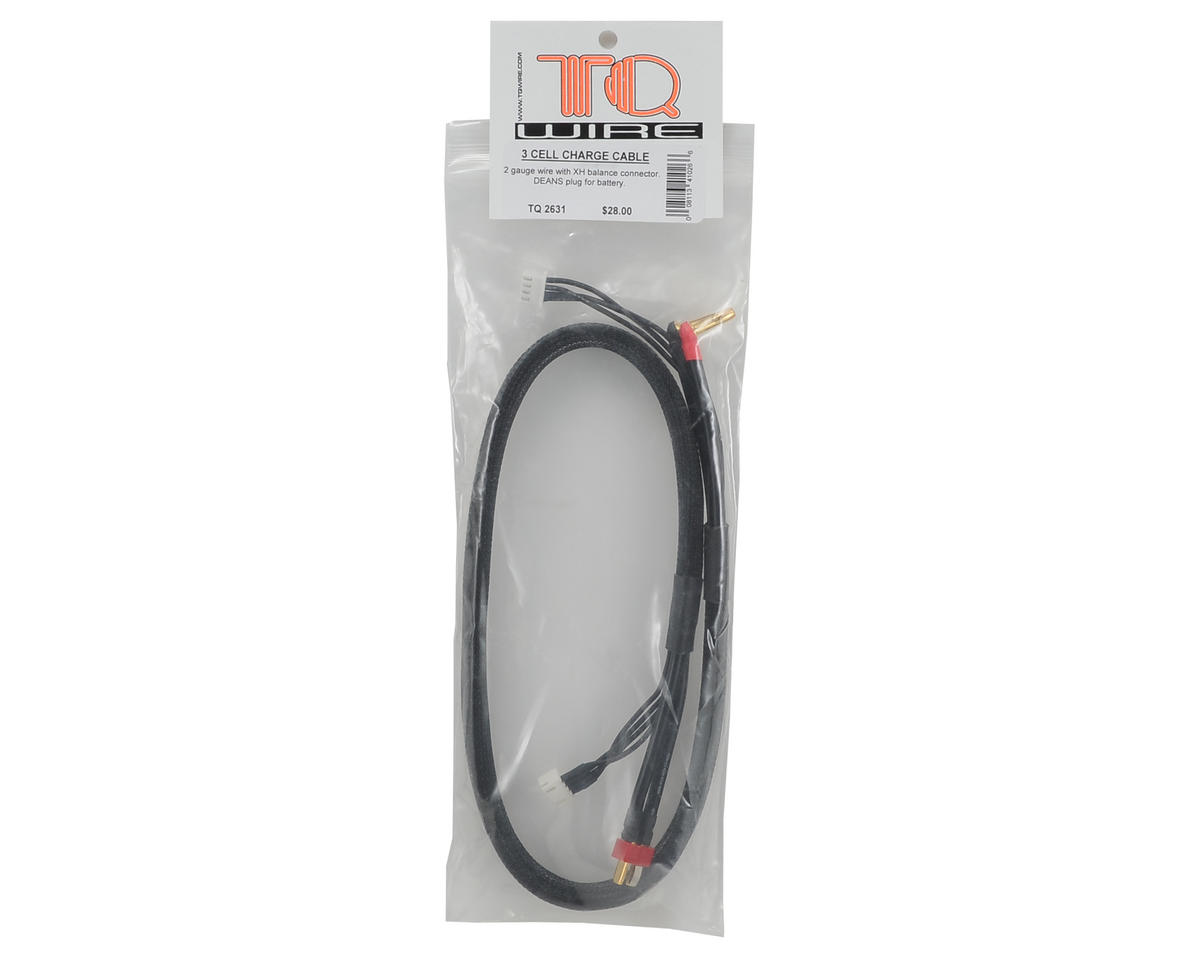 TQ Wire 3S Charge Cable w/Deans Plug (2')