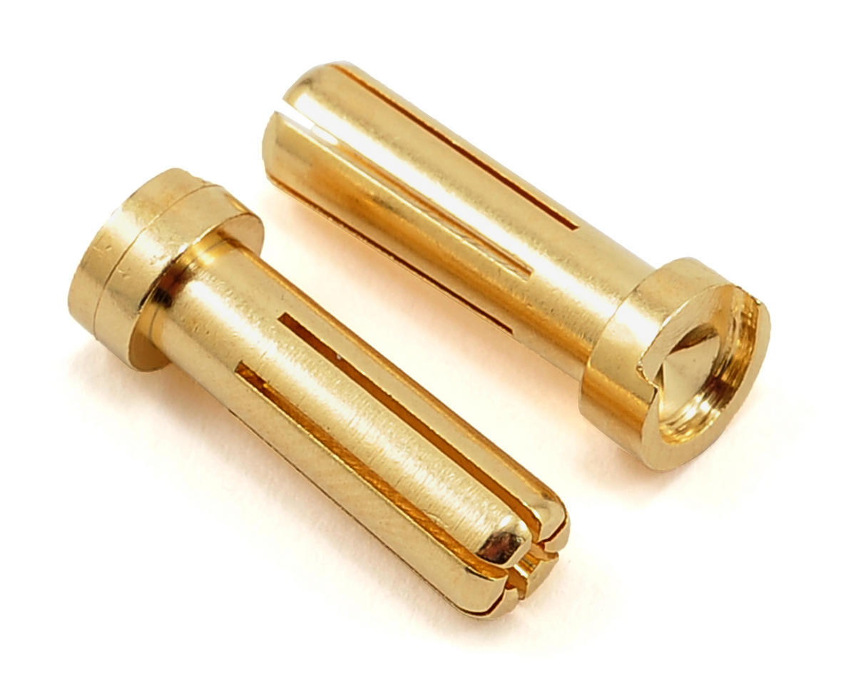 "5mm ""Low Profile"" Male Bullet Connector (Gold) (2) by TQ Wire"