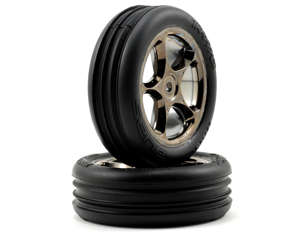 "Alias 2.2"" Front Pre-Mounted Tires (2) (Black Chrome) (Standard) by Traxxas"