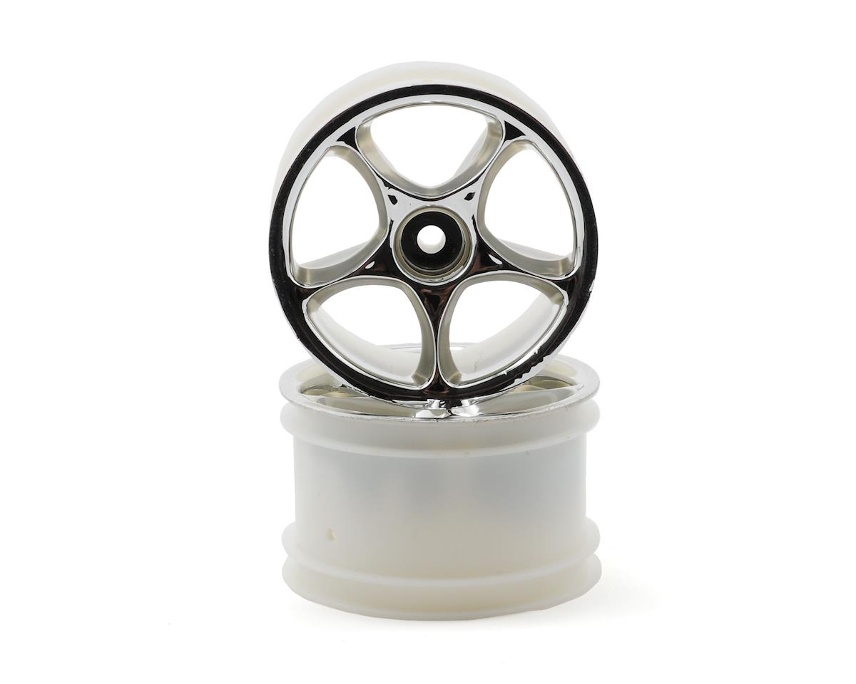 "Traxxas 2.2"" Bandit Rear Tracer Buggy Wheels (2) (Chrome) (Not Hex)"