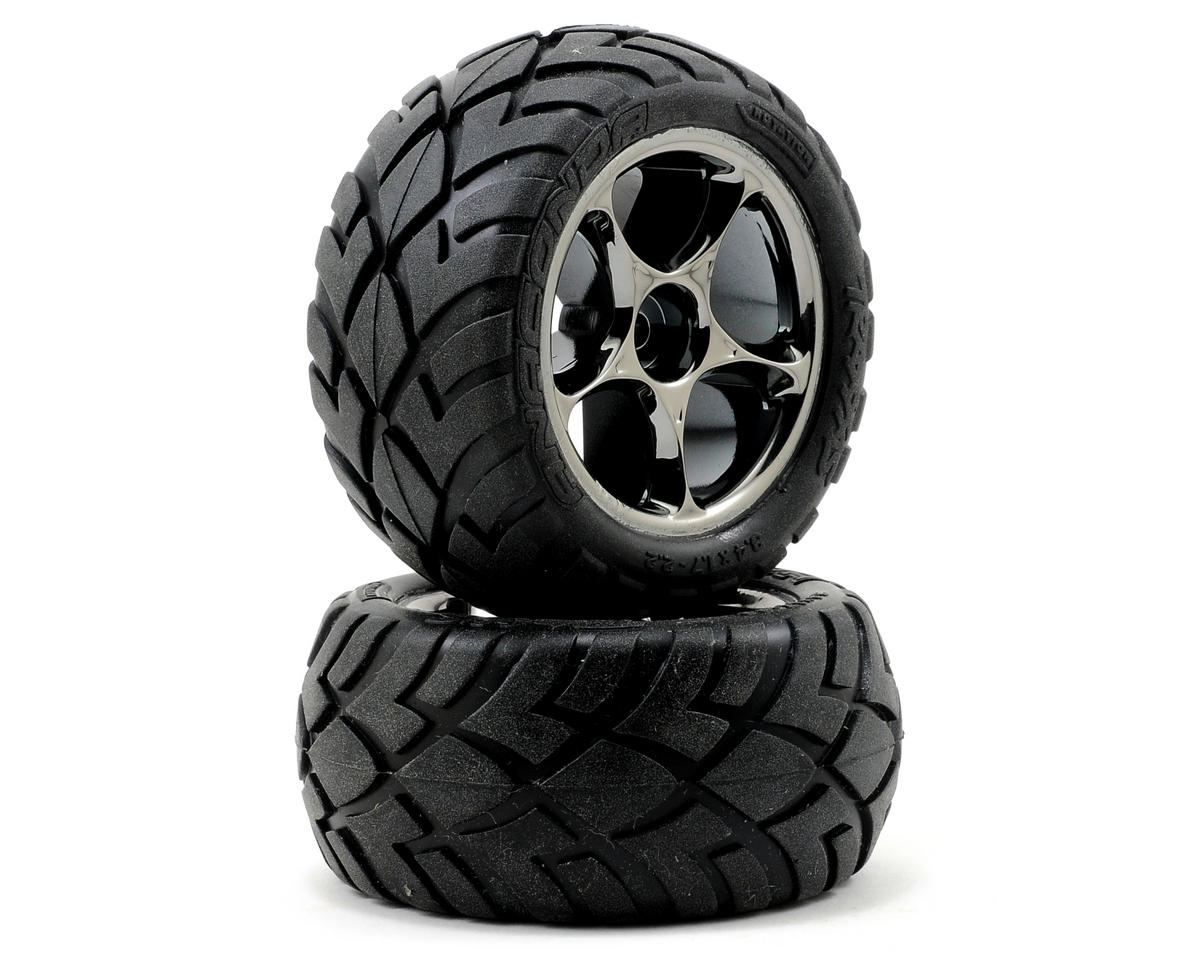 Anaconda Rear Tires (2) (VXL Bandit) (Black Chrome) by Traxxas
