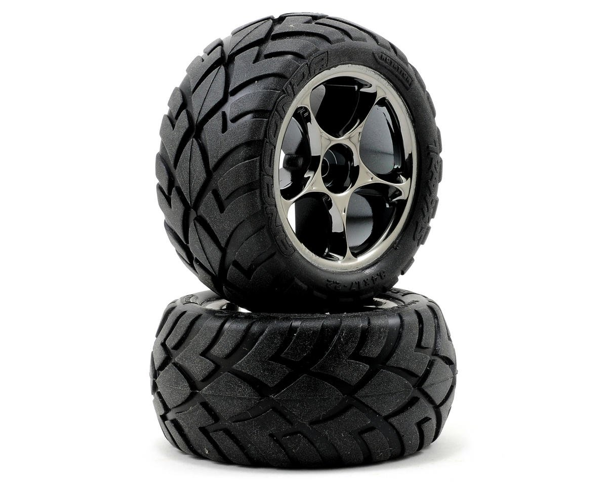Anaconda Rear Tires (2) (VXL Bandit) (Black Chrome) (Standard) by Traxxas