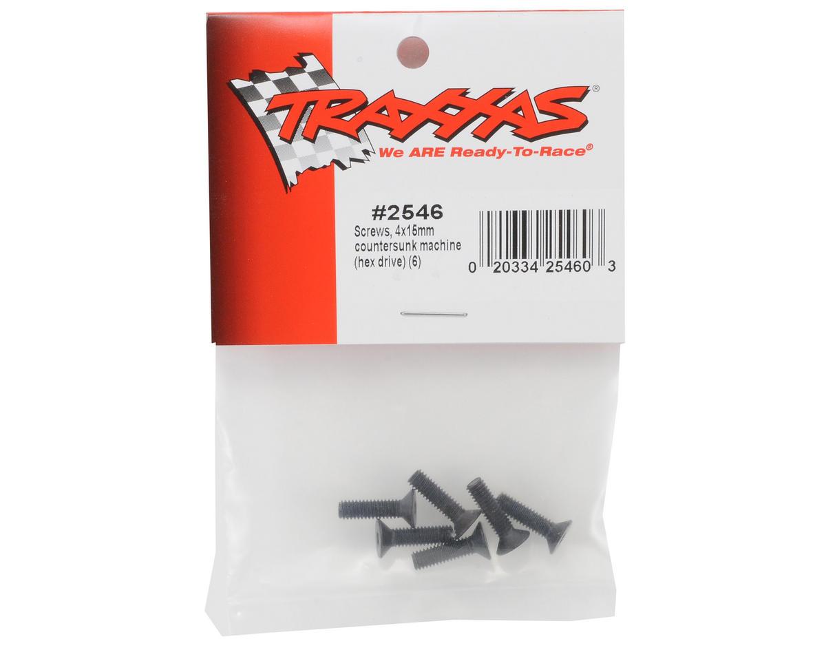 Traxxas 4x15mm Flat Head Screws (6)
