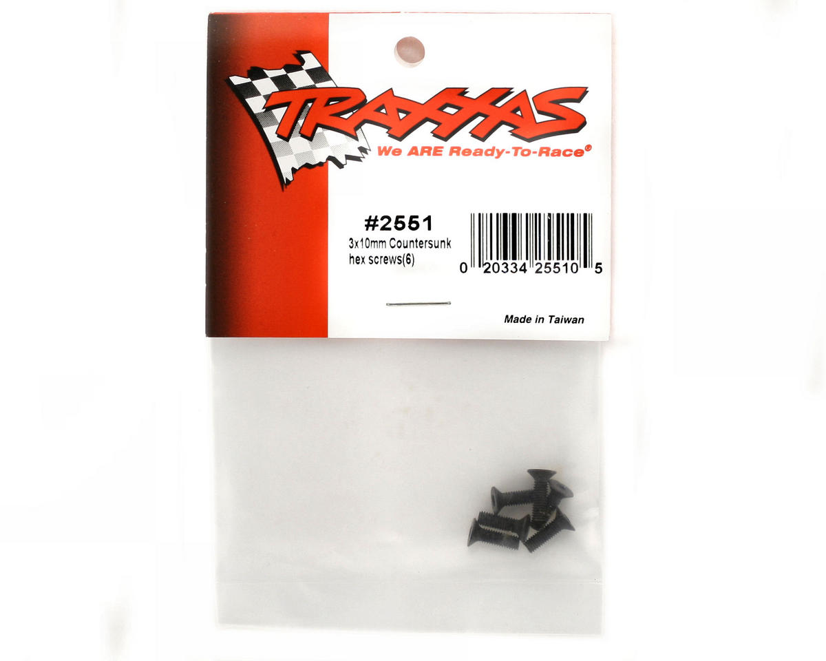 Traxxas 3X10mm Flat Head Screws (6)