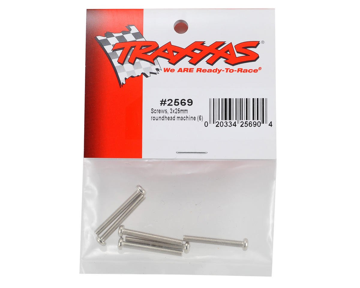 3x25mm Button Head Machine Screw (6) by Traxxas