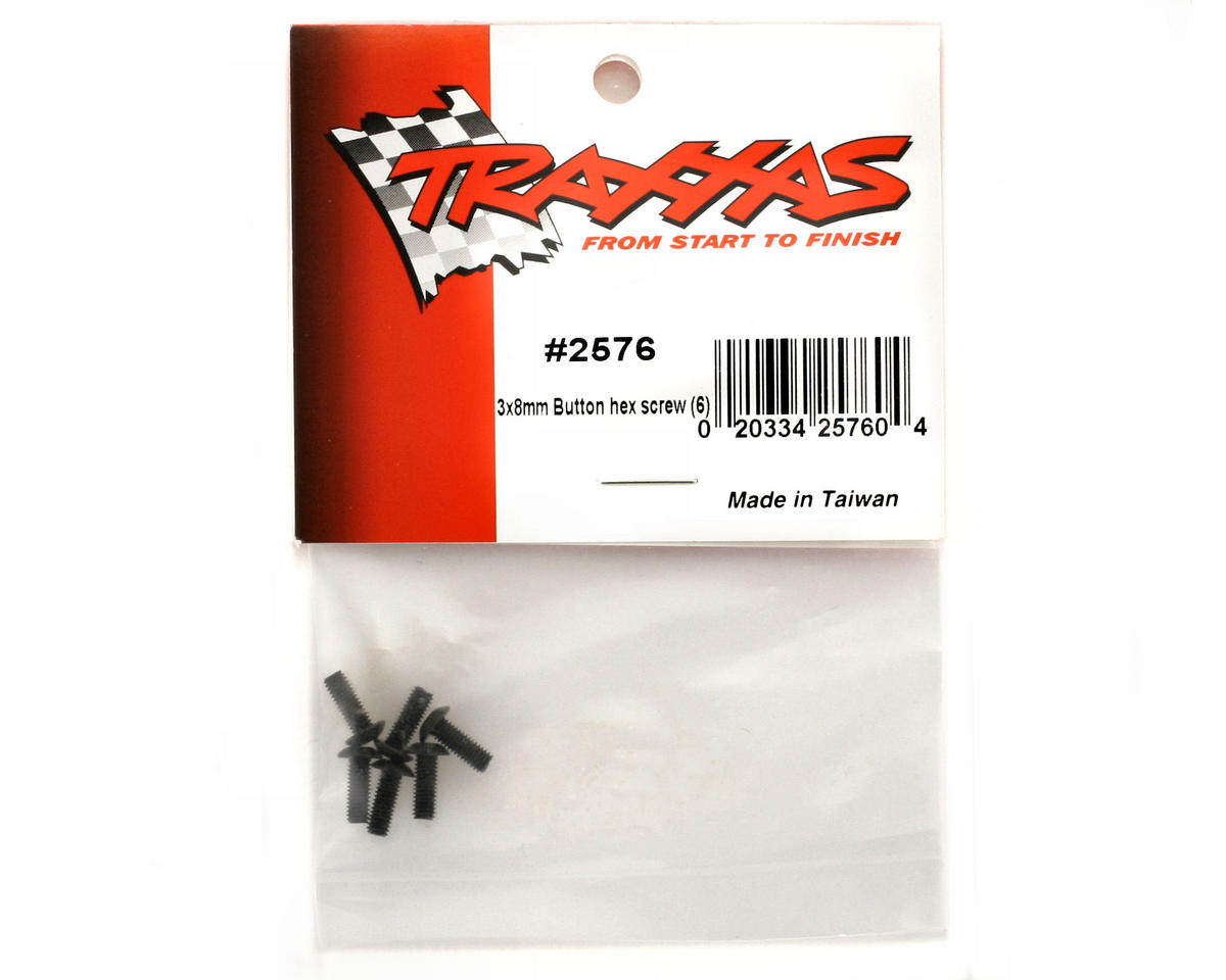 Traxxas 3x8mm Button Head Hex Screw (6)