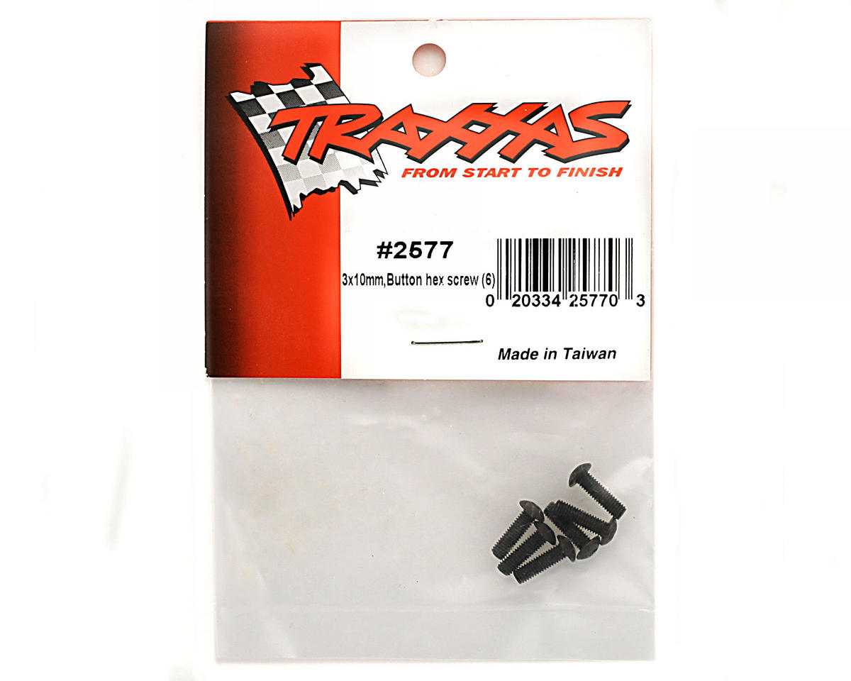 3x10mm Button Head Screws (6) by Traxxas