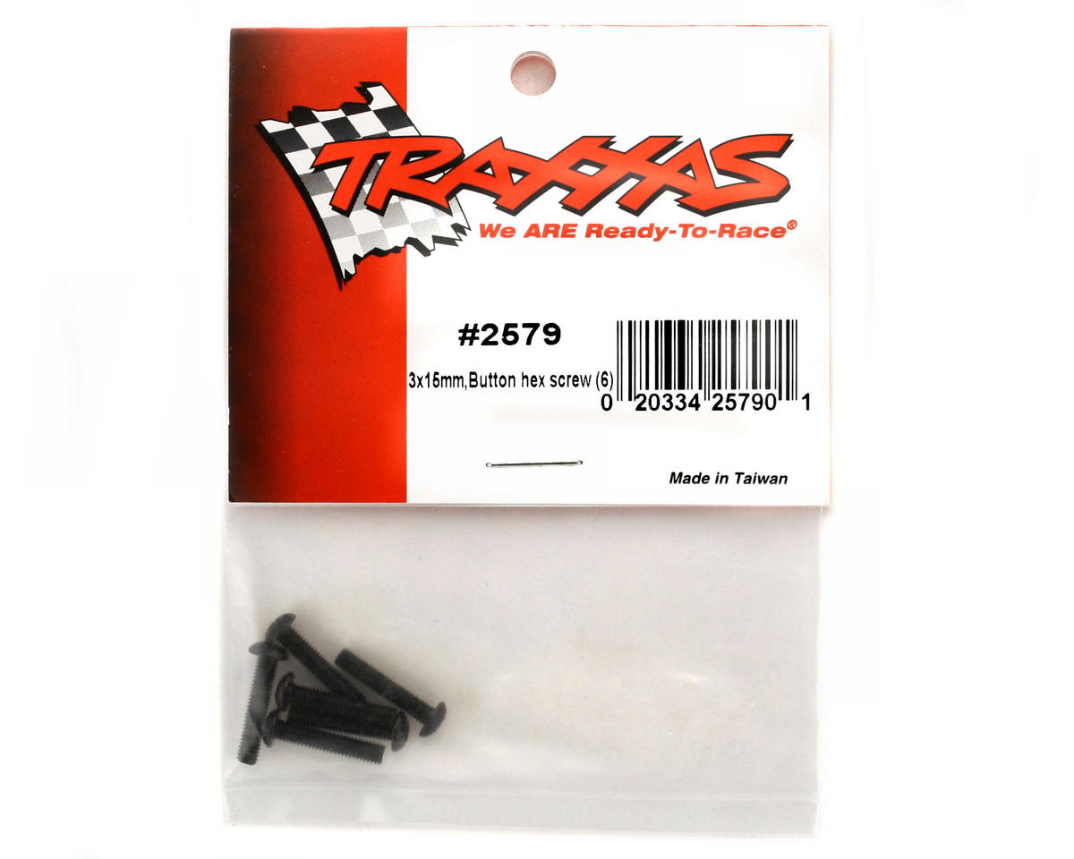 Traxxas 3x15mm Button Head Screws (6)