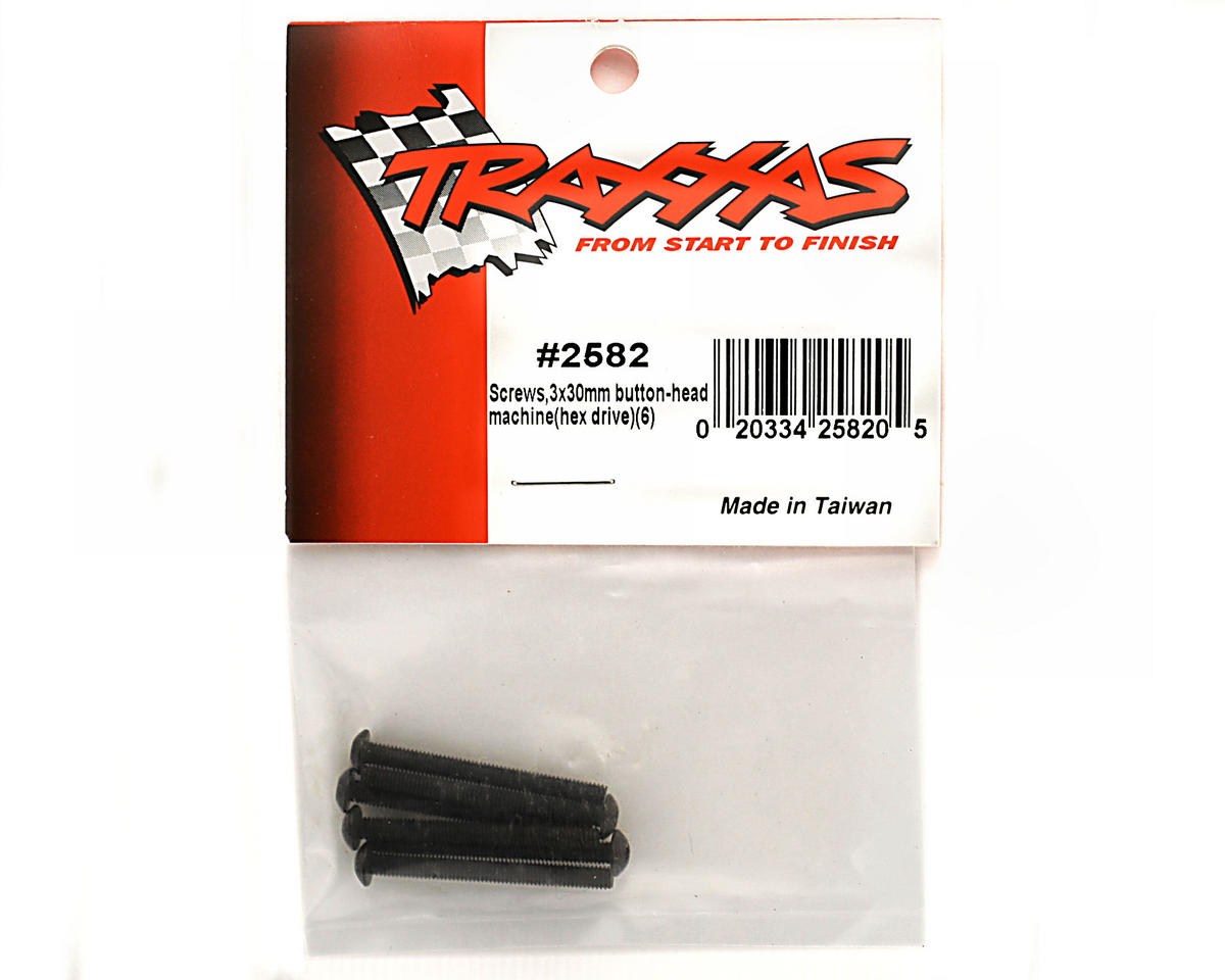 Traxxas 3x30mm Button Head Machine Screws (6)
