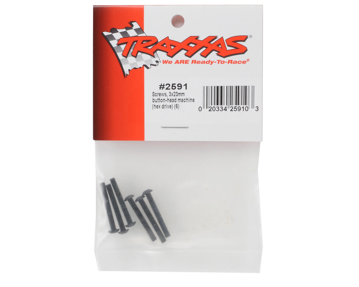 Traxxas 3x23mm Button Head Screws (6)